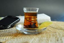 Free Hot Tea With Lemon Stock Photography - 21831912