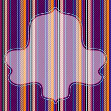 Vivid Striped Pattern With Frame Royalty Free Stock Photography