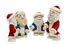 Free Figures Of Santa Claus Isolated On White Royalty Free Stock Photos - 21835108