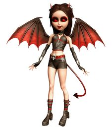 Free Little Devil Girl Royalty Free Stock Image - 21835806
