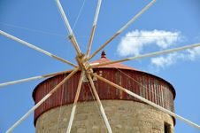 Free Greek Windmill Stock Photo - 21837950