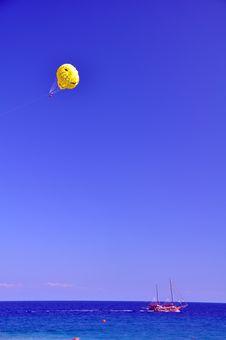 Free Para Gliding Over The Mediterranean Sea Stock Photo - 21838240