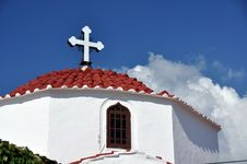 Free Mediterraneran Church Roof Royalty Free Stock Image - 21838476