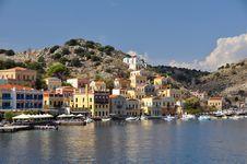 Greek Coastal Town Royalty Free Stock Photography