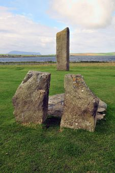 Free The Stones At Stenness, The Standing Stone At Stenness, Orkney, Scotland, U.K. Royalty Free Stock Photography - 21839687