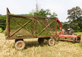 Free Hay Wagon With Tractor Royalty Free Stock Photo - 21843975
