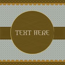 Free Polka Dot Design, Brown Vintage Frame Royalty Free Stock Photography - 21841687