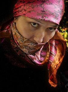 Free Kazakh Woman. Royalty Free Stock Photography - 21841737