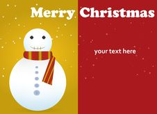 Free Merry Christmas Card Stock Photos - 21842963