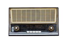 Free Old Radio Isolated Royalty Free Stock Photos - 21844008