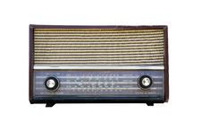 Free Old Radio Isolated Stock Photography - 21844062