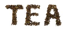Word Tea From Tea Leaves Royalty Free Stock Image