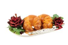 Free Two Fresh Croissants Stock Images - 21849104