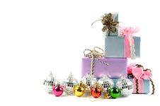 Christmas Gifts And Decoration Royalty Free Stock Image