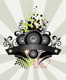 Free Music Background Banner Stock Photo - 21849710