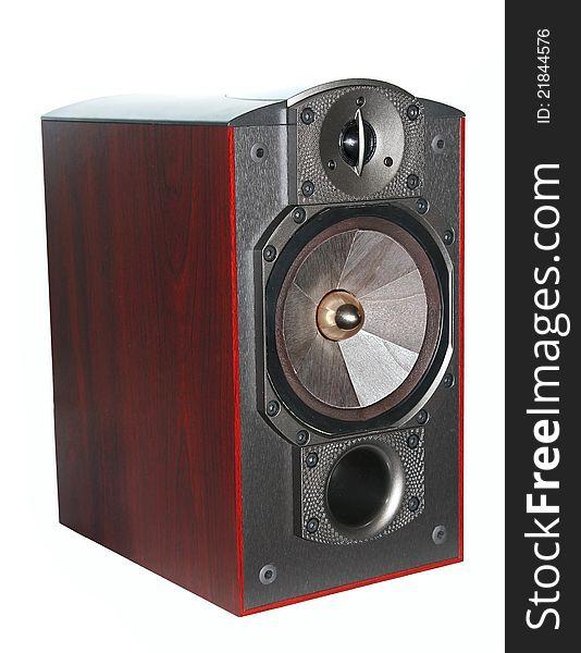 Closeup expensive hi-fi speaker