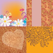 Free Floral Backgrounds Romantic Set Royalty Free Stock Photography - 21857917