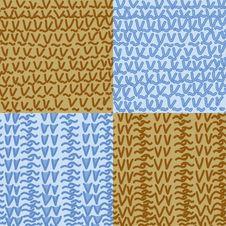 Free Knitting Seamless Pattern Set Stock Photography - 21857922