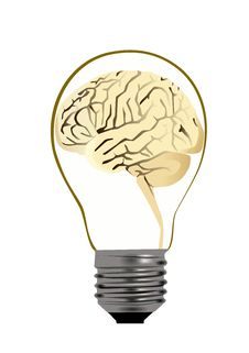 Free Bulb Brain Stock Images - 21858234