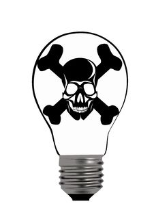 Free Bulb Skull Royalty Free Stock Photography - 21858237