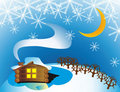 Free Winter Cottage Stock Photo - 21864740