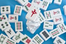 Free Stack Of Mahjong Tiles Royalty Free Stock Photo - 21861345