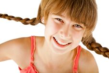 Free Redhead Girl Smiling Braids Royalty Free Stock Images - 21861629
