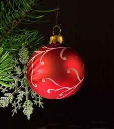 Hand Painted Bauble Stock Photography