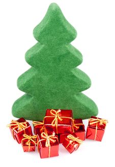 Free Christmas Tree With Gifts, Royalty Free Stock Photo - 21867315