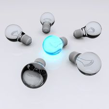 Free Team Of Light Bulbs Stock Photography - 21867762