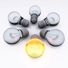Free Team Of Light Bulbs Stock Photo - 21867770