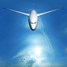 Free Dream Liner In The Sky Royalty Free Stock Photography - 21867787