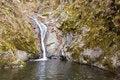Free Autumn Waterfall In Mountain Stock Image - 21875801