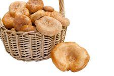 Free Basket Of Mushrooms. Royalty Free Stock Images - 21870509