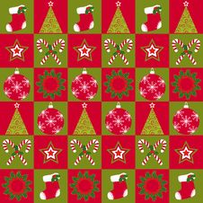 Free Christmas Ornament Seamless Pattern Stock Image - 21876211