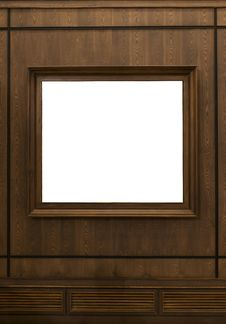 Free Picture Frame Hanging On Wooden Wall Stock Photography - 21876972