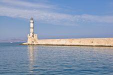 Free A Greek Lighthouse Royalty Free Stock Photos - 21879448