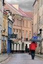 Free Vilnius Oldtown Street, Motion Blur Royalty Free Stock Images - 21880169