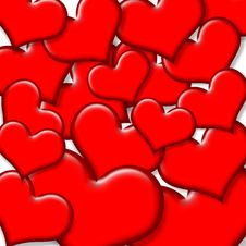 Free Red Hearts Background Stock Photos - 21880313