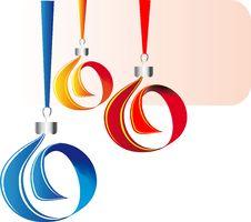 Free Christmas Balls Of Tape Stock Photos - 21881243