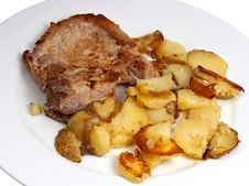 Free Pork Chop With Potato. Royalty Free Stock Images - 21883869