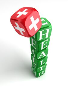 Free Health 3d Colorful Cube Tower Stock Photos - 21886403