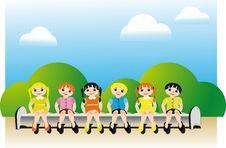 Free Children S Team Royalty Free Stock Photo - 21886835