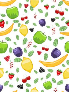 Free Mouth-watering Fruit Seamless Pattern Royalty Free Stock Photos - 21887198