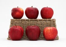 Free Apples And A Basket Royalty Free Stock Photo - 21887515