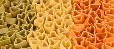Free Italian Flag Made From Color Pasta Of Heart Royalty Free Stock Images - 21888009