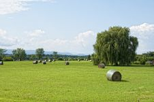 Free Vermont Hay Field Royalty Free Stock Photo - 21888525