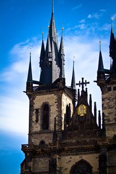 Church Of Our Lady Before Týn Royalty Free Stock Photo