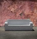 Free Stone Sofa Cracked Plaster Wall Royalty Free Stock Image - 21890346