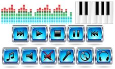 Free Music Icons Record-Vector Stock Image - 21890561